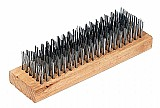 Escova de aco 6 fileiras base madeira - marca castor modelo 406