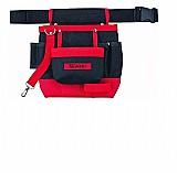 Bolsa para ferramentas mtx c/cinto em lona 7 bolsos 902419 vermelha  marca mtx modelo 902419