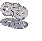 5 discos corte diamantado 105 mm makita segmentado granito