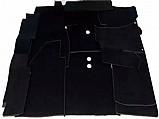 Forro carpete fusca preto luxo p/ assoalho   padrao vw marca volkswagen número de peça carppt40
