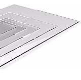 Chapa de policarbonato compacto cristal 1m x 42cm x 1mm