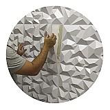 Placa de revestimento 3d pvc 50cm x 50 cm paredes e tetos
