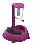 Bebedouro automatico para caes com comedouro - rosa  marca pet feeder modelo comedouro e bebedouro
