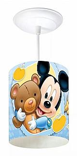 Pendente infantil quarto bebe mickey baby 1 lampada marca startec modelo cilindrico