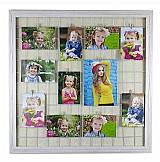 Painel de fotos memory board mural grade memoria 64x64