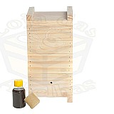 Kit caixa para abelha jatai  cera   feromônio * promocao       marca loja das abelhas     material madeira