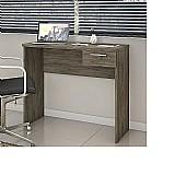 Puxadores em alumínimesa de madeira para escritório para notebook home office  nt 2000 canela com puxador de aluminio