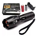 Lanterna tatica longo alcance led profissional original x900       marca x900     modelo x900
