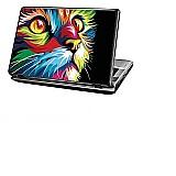 Skin adesivo para notebook dell - pintura animais coloridos  marca pg adesivos     modelo adesivo para notebook