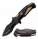 Canivete tatico sobrevivencia mtech fire fighter gold marca osato knives linha tatico