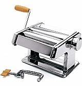 Maquina de fazer macarrao inox manual em aco inox  modelo cilindro marca importado