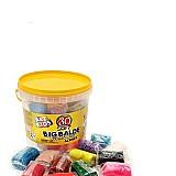 Massinha de modelar soft big balde e 30 massas acrilex 40023       marca acrilex     modelo massinha de modelar soft big balde com 30 cores variadas