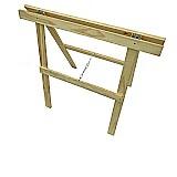 Cavaletes de madeira dobraveis home office mesa 80x80  marca jta modelo classico