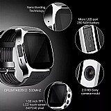 Relogio smartwatch t8 touch/camera/bluetooth marca lynwo linha 2019