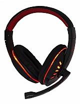 Fone de ouvido gamer exbom hf-g310p4 black e red e red light marca exbom modelo hf-g310p4