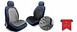 Capa massageadora assento carro encosto preto cinza universa marca carrhel modelo capa massageadora cinza e preta
