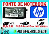 Fonte carregador notebook e netbook hp