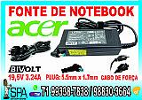 Fonte carregador notebook acer