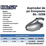 Aspirador de po compacto bl 3258