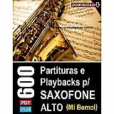 600 partituras e playbacks para saxofone (alto) - via download