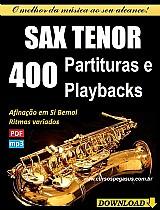400 partituras e playbacks para sax tenor (si bemol) - via download