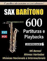 600 partituras e playbacks para saxofone baritono - via download