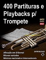 400 partituras e playbacks para trompete (si bemol) - via download
