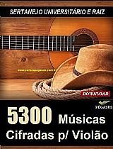 5300 cifras musicais - sertanejo universitario e raiz