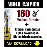 180 musicas cifradas para viola caipira