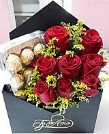 Flores com chocolate ferrero rocher