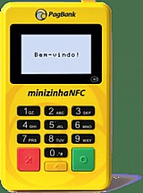 Maquininha de cartao minizinha nfc - menor preco do brasil