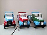 Caminhao carroceria de brinquedo em madeira (grande)