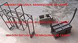 Forma manual ergonômica para meio bloco 19x19x19cm