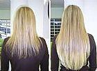 Unhas em gel alongamento cabelo