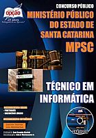 Publicado concurso ministerio publico / sc técnico em infor.