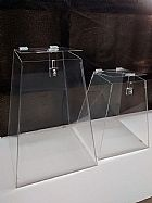 Urna e caixas em acrilico