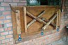 Mesa rustica d parede sem banco