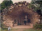 Construcao da gruta nossa senhora de fatima