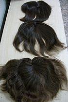 Franja de cabelo natural