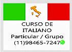 Aulas de italiano particulares ou grupo