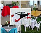Aluguel de toalhas de mesa para festas em sp.