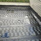 Aplicação de manta asfalticas