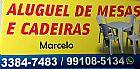 Aluguel de mesas e cadeiras, gama df, 61 991085134.
