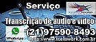 Servico de transcricao (degravacao) de áudio 90 reais.