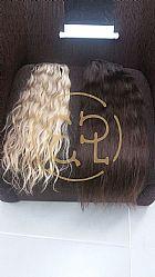 Maga hair, apliques, faixas de cabelos naturais