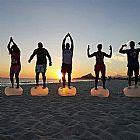 Pilates, yoga, alongamento na mitra em saquarema