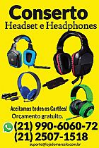 Conserto fone headphone e headset - assisntencia tecnica