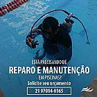 Reparo e manutencao de piscinas.
