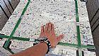 Piso de granito branco dallas