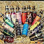 Perfumes de bolso e produtos para cabelo